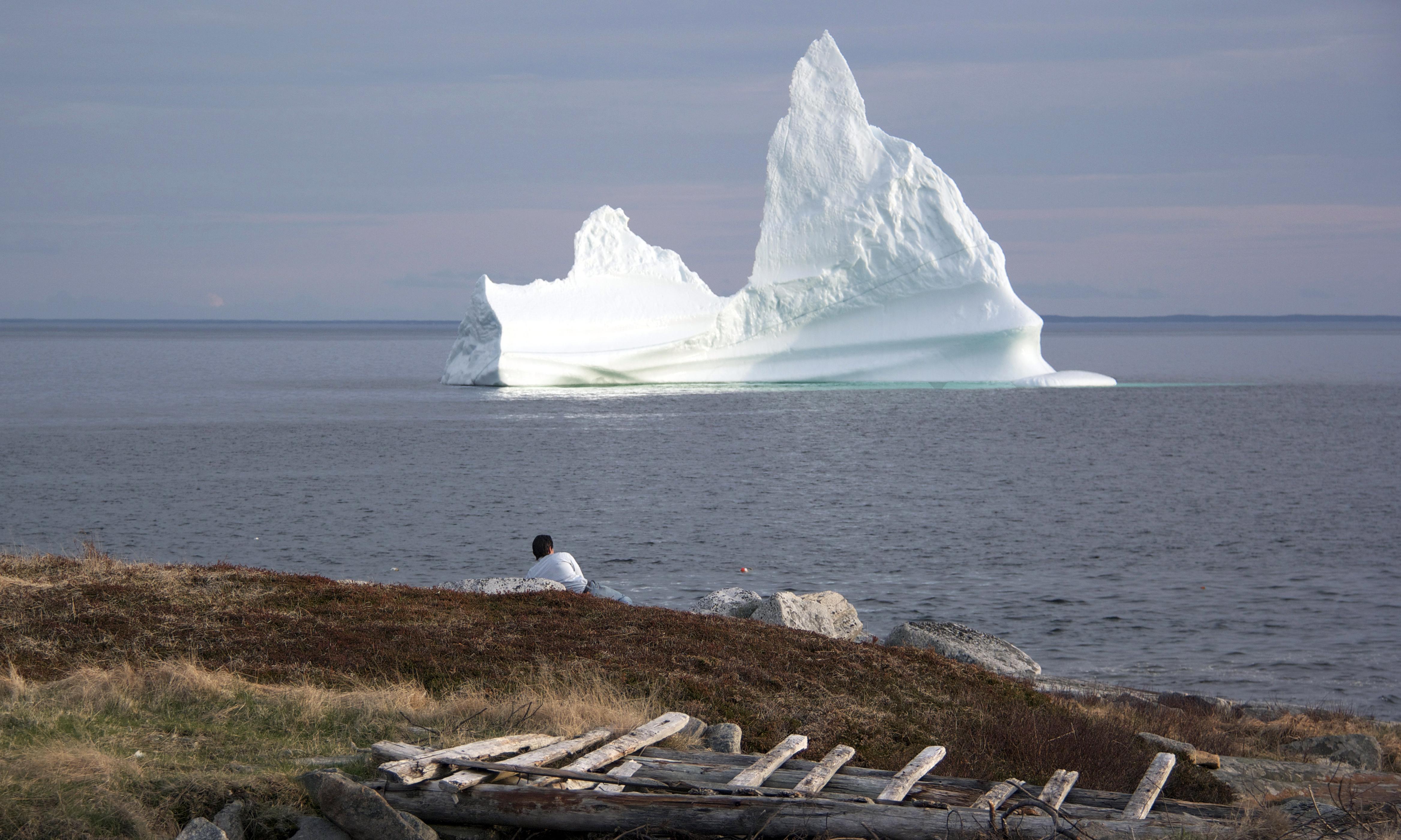 A Fogo Island Iceberg Self Destructs
