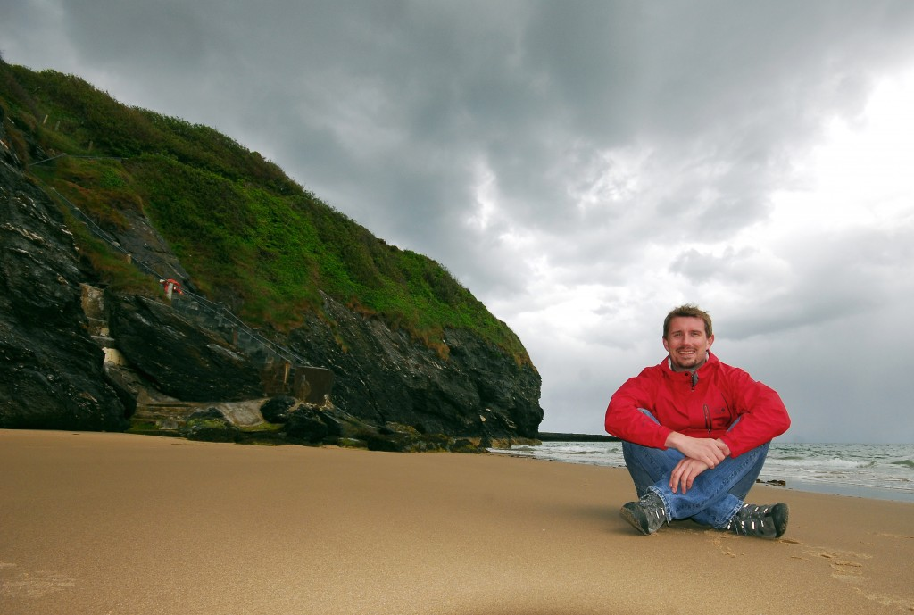 Author Pól Ó Conghaile at Silver Strand, Co. Wicklow.