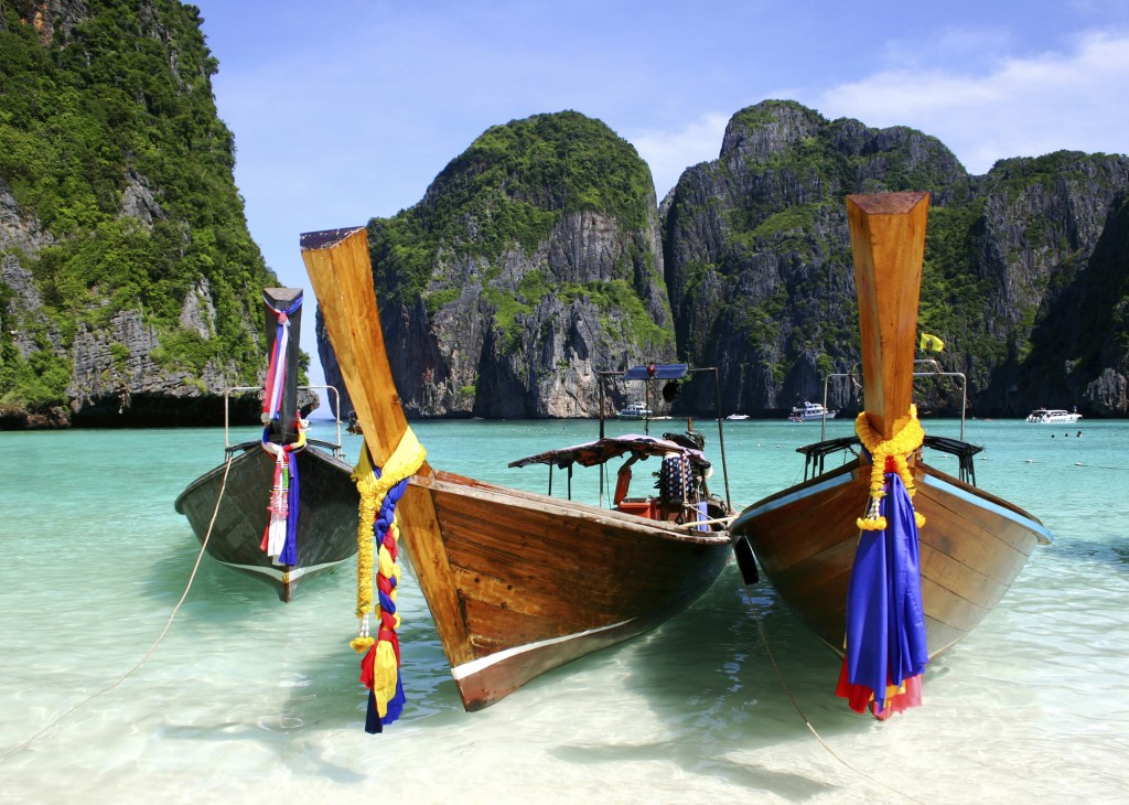 Phuket, Thailand - Boats on Beach-1